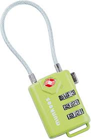 <b>Munkees</b> Cable <b>Combination Lock</b> Luggaue Travel Padlock, Bag ...