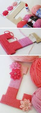 room diy crafts teenagers intended diy yarn wrapped ombre monogrammed decorative letters make a decorativ