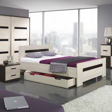 bedroom contemporary bedroom furniture design with white stained wooden bed with trundle come with black bedroom furniture black and white