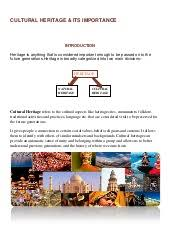benefits of cultural heritage  document overview
