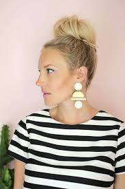 <b>Geometric</b> Gold Statement Earring DIY - A Beautiful Mess