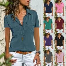 Women Blouses Plus Size Temperament <b>Thin Short</b> Sleeved <b>Shirt</b> ...