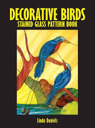 Decorative <b>Birds Stained Glass</b> Pattern Book