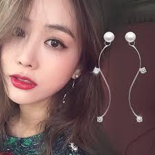 2016 New Jewelry Earrings Pearl <b>Temperament</b> Model Earrings ...