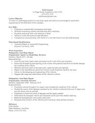 auto body technician resume sample resume sample auto mechanic resume
