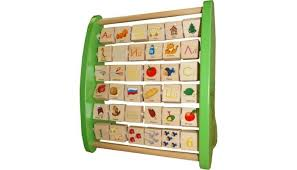 <b>Деревянная игрушка QiQu Wooden</b> Toy Factory Азбука с ...