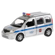 Машина <b>Технопарк RENAULT</b> KANGOO Полиция 12 см KANGOO-P