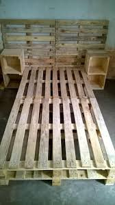 pallet bed frame with side tables and headboard easy pallet ideas for the home pallet furniture lta classquotpintagquot bedroomeasy eye upcycled pallet furniture ideas