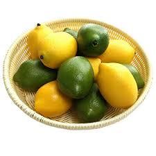 <b>Gresorth</b> 12pcs Yellow & Green <b>Artificial Lifelike</b> Simulation Lemon ...