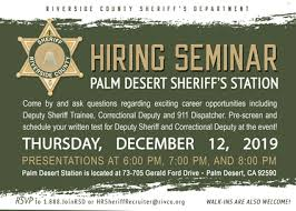 Riverside County Sheriff Recruiting Events:: Sheriff-Coroner ...