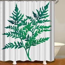 <b>Shower Curtain Flowers</b> Trees Print Blackout Curtains Waterproof ...