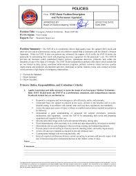 emt resume resume badak emt paramedic resume sample
