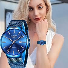 <b>Relogio Feminino</b> LIGE New Blue Watch Women <b>Luxury Brand</b> ...