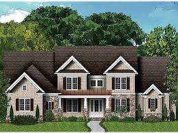 Craftsman Home Plans   Two Story Luxury Craftsman House Plan   H    Craftsman House Plan  H
