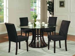 small dining tables sets: stunning round glass dining table set with white cabinet
