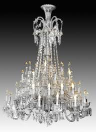 baccarat chandelier antiques the uks largest antiques website baccarat zenith arm black crystal chandelier