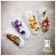 <b>Watercolour nail</b> art from Norka #moyra#wearecolours#<b>watercolour</b> ...