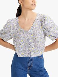 <b>Levi's Holly Blouse</b>, Monrovia Flower Lavender at John Lewis ...