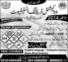 training courses for females in sindh  under   training courses for females in sindh 2013 2014 under vocational training institute
