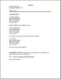 How To List References On A Resume List References On Resume How