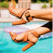 2019 <b>Women Summer</b> Platform 11.5cm <b>High</b> Heels Dress <b>Thick</b> ...