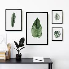 07G Nordic Simple <b>Watercolor Green Plant</b> Leaves A4 A3 A2 ...