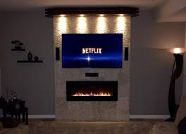 ideas pictures modern portable fireplace flavahomecom: amazoncom napoleon eflh linear wall mount electric fireplace  inch