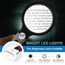 Extra Large 4X <b>Magnifying Glass</b> with 4 Ultra Bright LED Lights ...