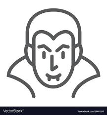 Dracula line icon <b>halloween</b> and <b>evil vampire</b> Vector Image