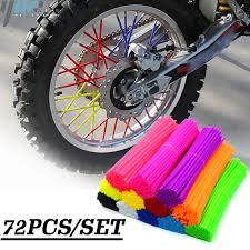 <b>72pcs</b> Dirt Bike <b>Wheel Spoke Protector</b> Colorful Motocross <b>Rims</b> ...