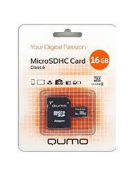 <b>Карта памяти</b> microSD <b>16Gb</b> Class 6 + Adapter QUMO 4938981 в ...