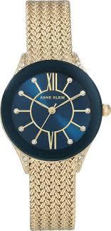 <b>Часы</b> наручные <b>женские Anne Klein</b>, 2208NVGB, синий, золотой