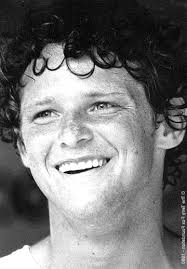 Sunday, 19 September 2010, the 30th Terry Fox Marathon! terryfoxhead.jpg. Terry Fox up close: his freckles, his gelasins, and his curls. - terryfoxhead