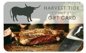 $100 Gift Card – Harvest Tide Steakhouse Restaurant