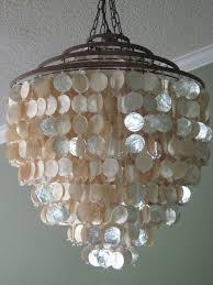 stunning shimmer seaside coastal ivory capiz shell chandelier capiz shell lighting fixtures