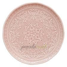 Фарфоровая <b>закусочная тарелка 19</b> см розовый серия <b>Abitare</b> ...