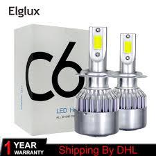 2x <b>C6</b> H1 Low Beam <b>Car LED</b> Headlight Kit 72W 6000K 7600LM ...