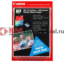 <b>Картридж CANON BCI-16 color</b> + Glossy Paper, PHOTO VALUE ...