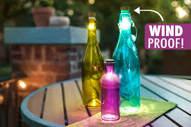 bottle lights are perfect for outdoor illumination since they are wind proof bottle lighting