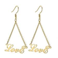 <b>Personalized Name Earrings</b> in 925 Sterling Silver - <b>Personalized</b> ...