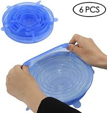 Sannysis <b>Silicone Fresh</b>-Keeping Elastic Bowl <b>Cover</b> Plastic wrap, 6 ...