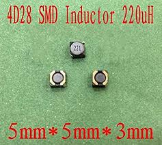 Maslin 1000pcs/lot <b>SMD</b> Power <b>Inductors</b> 220UH <b>4D28</b> Shielded ...