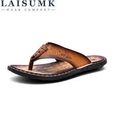 Details: 2018 <b>LAISUMK Summer Men</b> Slippers Head Layer Cowhide ...