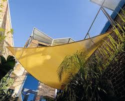 sun shade sail uv top outdoor amazoncom coolaroo triangle shade sail  feet  inches with hardware kit
