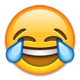 Resultado de imagen de carita whatsapp llorando mientras rie