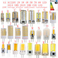 <b>5PCS</b> 10PCS 20PCS G4 AC220V 2W 3W <b>4W 5W</b> 6W 7W 8W LED ...