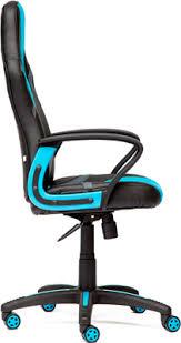 <b>Кресло Tetchair RUNNER</b> (кож/зам/ткань, черный/голубой, 36-6/23)