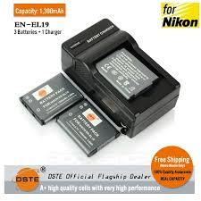 DSTE <b>EN-EL19 ENEL19</b> 1300mAh Battery and Charger for Nikon ...