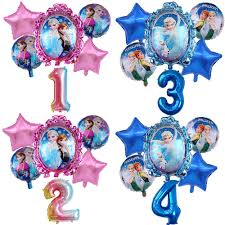 <b>6pcs</b> Elsa <b>Disney Frozen</b> Princess Helium Balloons 32inch Number ...
