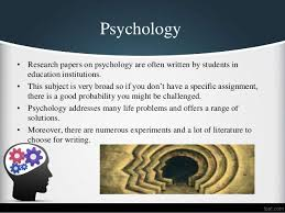top  psychology research paper topics psychology  research